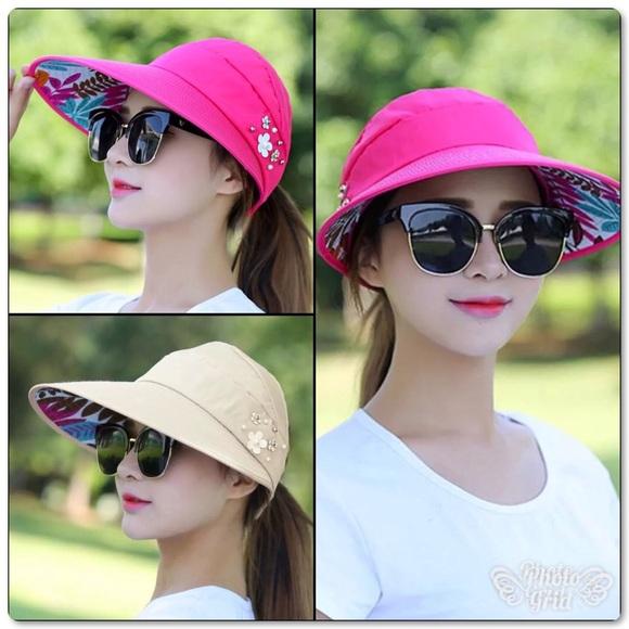 Oversized Foldable Summer Sun Hats Visors 0c157ad75738